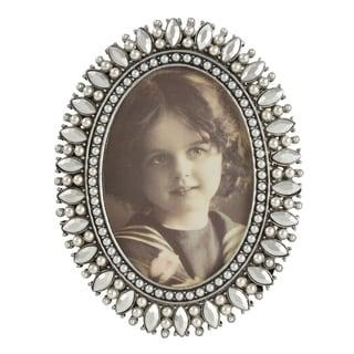 Saro Lifestyle Bejeweled Portrait Photo Frame