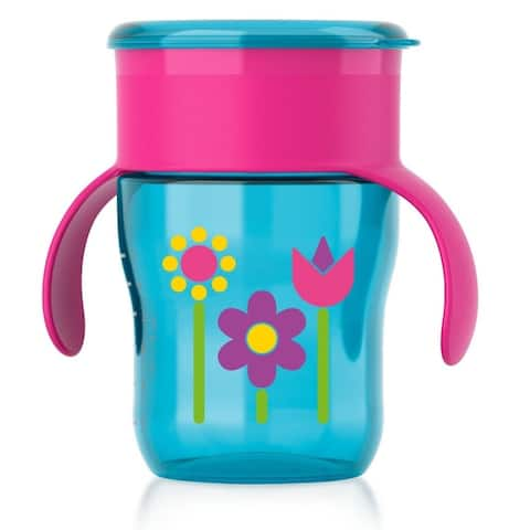Philips Avent BPA Free My First Big Kid Cup 360degree, 9m+ 9 Oz Blue SCF782/53