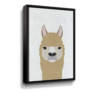 Porch & Den Alpaca Gallery Wrapped Floater-framed Canvas