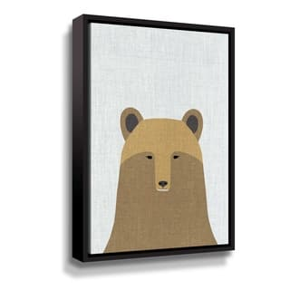 Porch & Den Grizzly Bear Gallery Wrapped Floater-framed Canvas