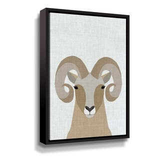 Porch & Den Bighorn Sheep Gallery Wrapped Floater-framed Canvas