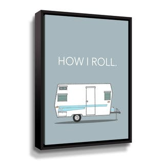 Porch & Den How I Roll Gallery Wrapped Floater-framed Canvas