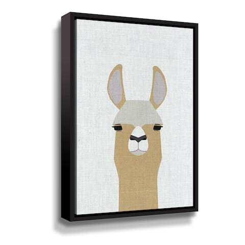 Porch & Den Llama Gallery Wrapped Floater-framed Canvas