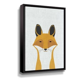 Porch & Den Foxy Gallery Wrapped Floater-framed Canvas