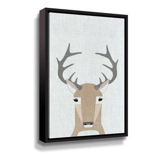 Porch & Den Whitetail Deer Gallery Wrapped Floater-framed Canvas