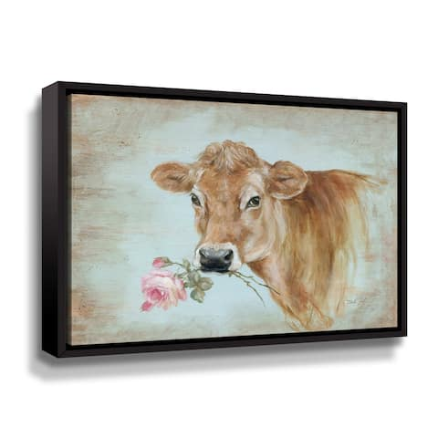 ArtWall Miss Moo Gallery Wrapped Floater-framed Canvas