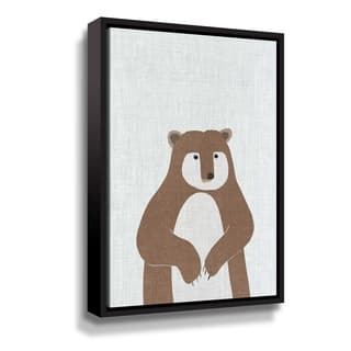 Porch & Den Brown Bear Gallery Wrapped Floater-framed Canvas