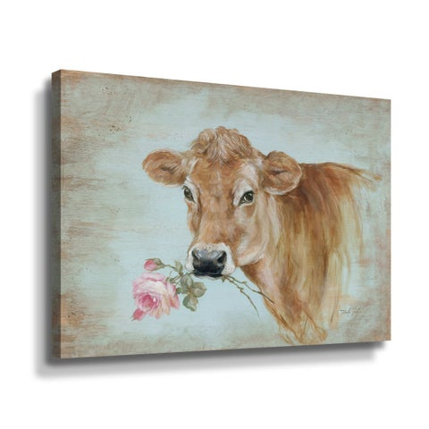 ArtWall Miss Moo Gallery Wrapped Canvas