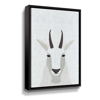 Porch & Den Mountain Goat Gallery Wrapped Floater-framed Canvas