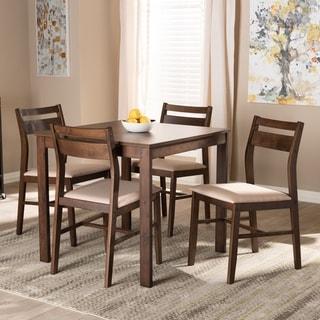 Contemporary Fabric 5-Piece Wood Dining Set