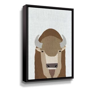 Porch & Den Buffalo Gallery Wrapped Floater-framed Canvas