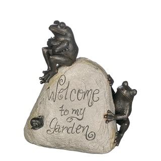 Welcome To My Garden Decorative Rock