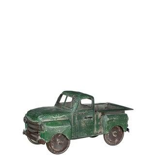 Green Metal Truck Planter