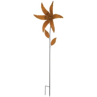 Rustic Lily Garden Stake