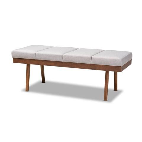 Mid-Century Fabric Bench