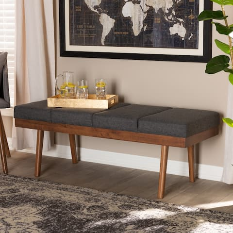 Mid-Century Fabric Bench