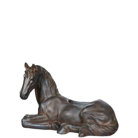 "Rustic Bronzed Horse Planter - 24""L x 14""W x 16""H"