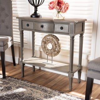 Baxton Studio French Country Grey Finished Wood 1-drawer Console Table