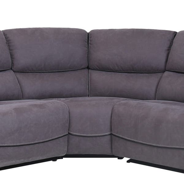 Fine Shop Levi Grey Transitional Upholstered Power Reclining Sofa Bralicious Painted Fabric Chair Ideas Braliciousco