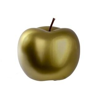 UTC44369: Ceramic Apple Figurine LG Chrome Finish Green