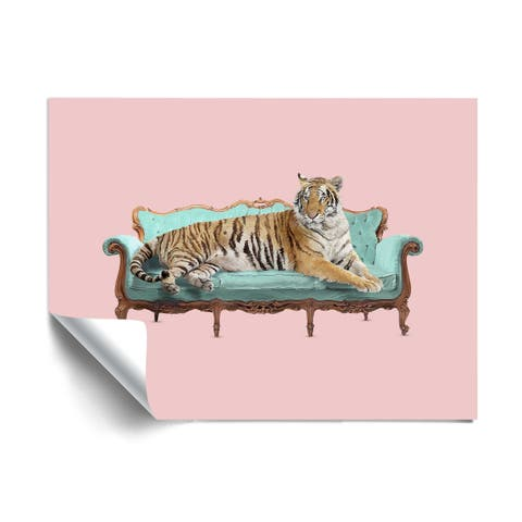ArtWall Lazy Tiger Removable Wall Art Mural