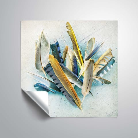 ArtWall Feather Study No. 3 Removable Wall Art Mural