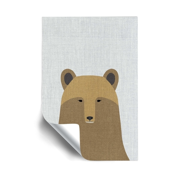 ArtWall Grizzly Bear Removable Wall Art Mural