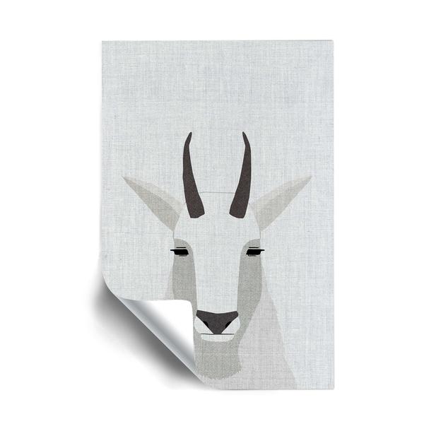 ArtWall Mountain Goat Removable Wall Art Mural