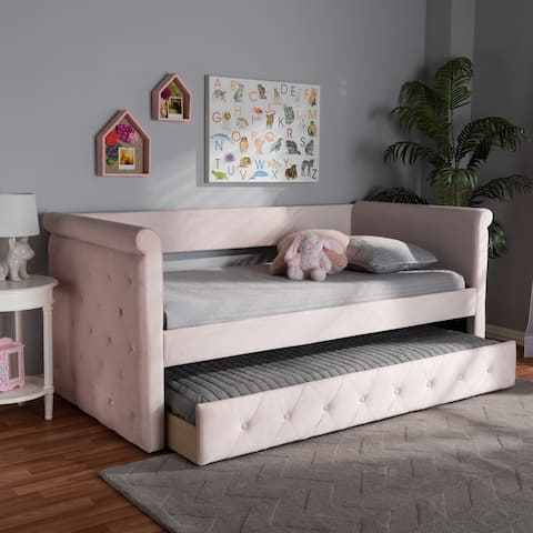 Copper Grove Saky Velvet Daybed with Trundle