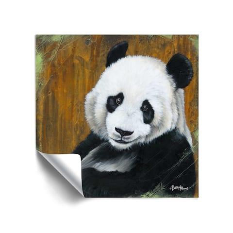 ArtWall Panda Smile Removable Wall Art Mural