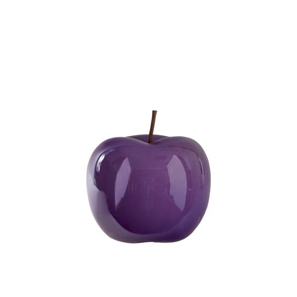 UTC44346: Ceramic Apple Figurine SM Pearlescent Finish Purple