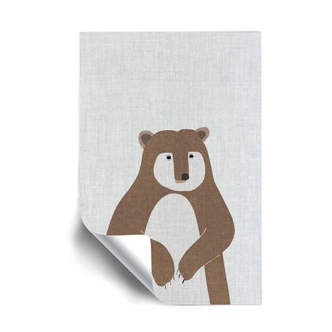 ArtWall Brown Bear Removable Wall Art Mural