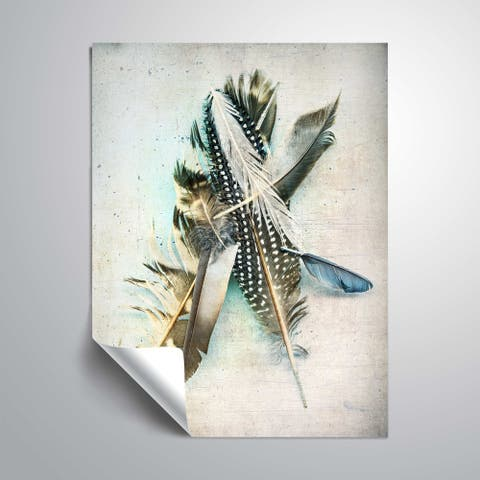 ArtWall Feather Study No. 5 Removable Wall Art Mural