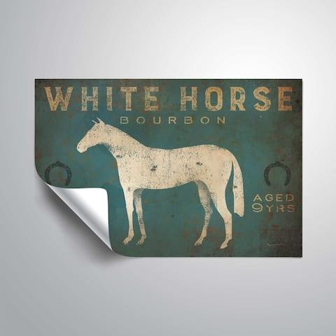 ArtWall White Horse No Kentucky Removable Wall Art Mural