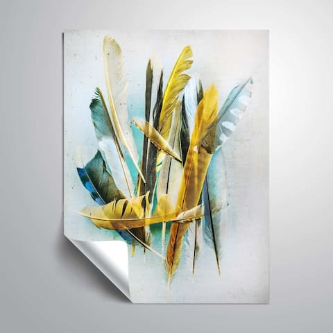 ArtWall Feather Study No. 2 Removable Wall Art Mural