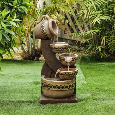Resin Cascading Pitchers Outdoor Fountain