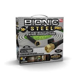 Bionic Steel Pro Heavy Duty Indestructible Stainless Steel Garden Watering Hose