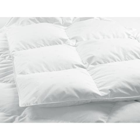 Highland Feather 550 Loft White Goose Down Duvet/Comforter Summer Fill 500TC 100% Cotton Casing with Corner Ties