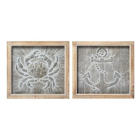 Karlin Anchor and Crab Wall Decor - Ast 2