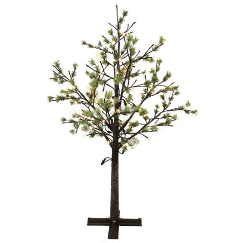 Puleo International 6.5 ' Pre-Lit Artificial Tree with 450 Warm White LED Lights