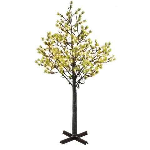 Puleo International 7.5 ' Pre-Lit Artificial Tree with 720 White LED Lights