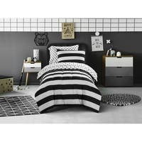Mini Mod Striped Polka Dot Twin Size Comforter Set (As Is Item)
