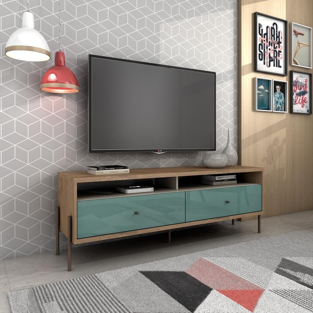 lowest price b49e4 60b4e Joy 59 In. Wood Mid Century Modern TV Stand