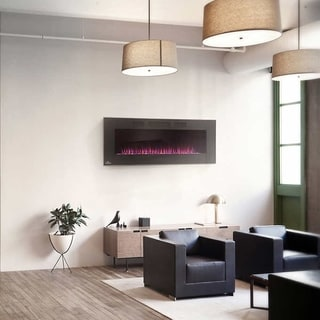 50-inch Linear Wall Mount Electric Fireplace
