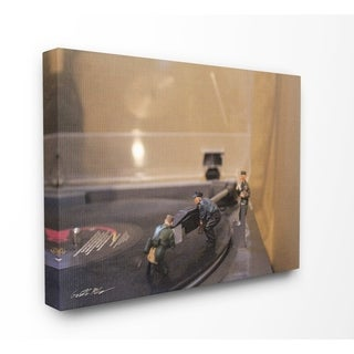 The Stupell Home Decor Comical Toy Army Men Scene Playing Music on Record Player, 11 x 14, Proudly Made in USA - Multi-Color