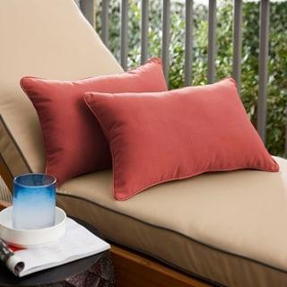 Havenside Home Terra Cotta Indoor/Outdoor Lumbar Pillow (Set of 2)
