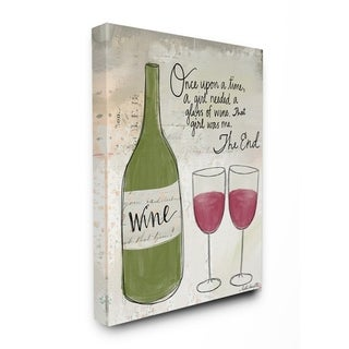 The Stupell Home Decor Once Upon a Wine Red Wine Glasses Story Typography, 11 x 14, Proudly Made in USA - Multi-Color