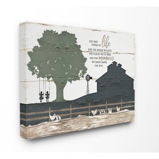 The Stupell Home Decor The Best Things In Life Are The People We Love Farm Homestead Silhouette, 11 x 14, Proudly Made in USA