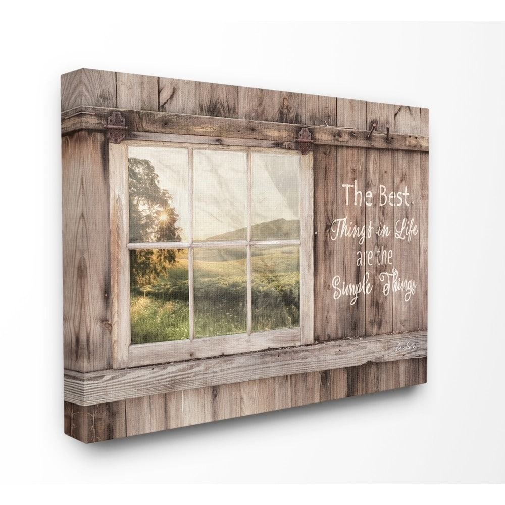 Shop The Stupell Home Decor Simple Things Rustic Barn Window Distressed Photograph 11 X 14 Proudly Made In Usa Multi Color Overstock 27740088