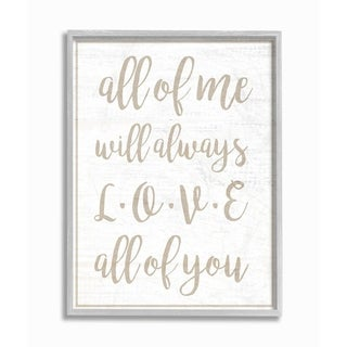 The Stupell Home Decor I Will Always Love All Of You White Wood Look Typography, 11 x 14, Proudly Made in USA - Multi-Color